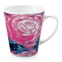 Designs Direct Large Blooms 12 oz. Latte Mug in Pink