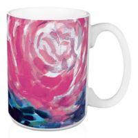 Designs Direct Large Blooms 15 oz. Coffee Mug in Pink
