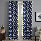 Madison Park Merritt 54-Inch Grommet Top Room Darkening Window Curtain Panel Pair in Navy