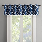Madison Park Merritt Grommet Top Room Darkening Window Valance in Indigo