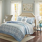 Madison Park Sybil Full Coverlet Set in Blue
