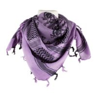 Red Rock Outdoor Gear Tactical Shemagh Head Wrap in Skull with Crossbones Purple