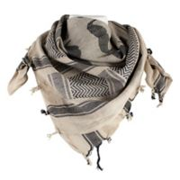 Red Rock Outdoor Gear Tactical Shemagh Head Wrap in Mustache Tan/Black