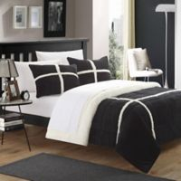 Chic Home Camille 2-Piece Twin XL Comforter Set in Black