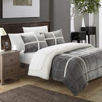 Chic Home Camille 2-Piece Twin XL Comforter Set in Silver