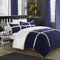 Chic Home Camille 2-Piece Queen Comforter Set in Navy