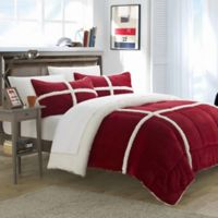 Chic Home Camille 2-Piece King Comforter Set in Red