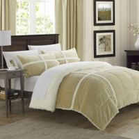 Chic Home Camille 2-Piece Twin XL Comforter Set in Taupe