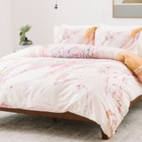 Deny Designs Iveta Abolina Winter Marble Twin Duvet Cover in Pink