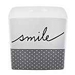 ED Ellen DeGeneres Words Tissue Holder in White/Grey