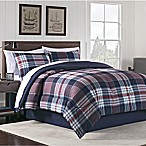 Hidden Retreat Martin 8-Piece Queen Comforter Set in Blue/Red