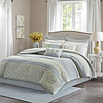 Madison Park Adelaide Queen Comforter Set in Grey