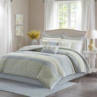 Madison Park Adelaide Queen Comforter Set in Grey