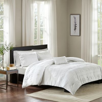 madison park nicolette cotton king comforter set in white