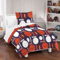 Dream Factory All Sports Full/Queen Reversible Comforter Set in Navy
