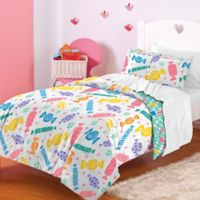 Dream Factory Candy Twin Comforter Set in White