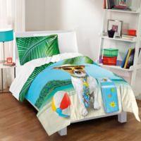 Dream Factory Ruff Getaway Full/Queen Comforter Set in Aqua