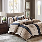 Madison Park Donovan 7-Piece Queen Comforter Set in Navy