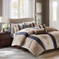 Madison Park Donovan 7-Piece Queen Comforter Set in Navy