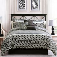 Studio 17 Madison 7-Piece Queen Reversible Comforter Set in Black/Grey
