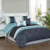 Studio 17 Glorious 7-Piece King Comforter Set in Dusty Aqua