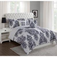 Studio 17 Simone 5-Piece Reversible King Comforter Set in Charcoal