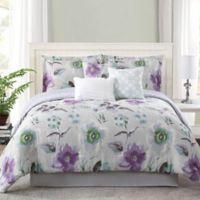 Studio 12 Mariana 7-Piece King Reversible Comforter Set in Lavender/Grey