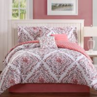 Studio 17 Perla 7-Piece Full/Queen Reversible Comforter Set in Coral