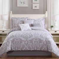 Studio 17 Welford 7-Piece Reversible King Comforter Set in Grey