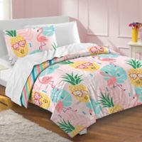 Dream Factory Pineapple Twin Comforter Set in Pink
