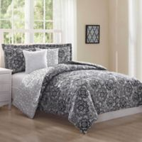 Studio 17 Bianca 5-Piece King Reversible Comforter Set in Black/White