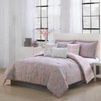 Studio 17 Magic 7-Piece Queen Reversible Comforter Set in Blush/Grey