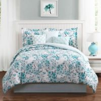 Studio 17 Sakura 7-Piece Reversible Queen Comforter Set