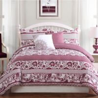Studio 17 Paz 5-Piece Full/Queen Reversible Comforter Set in Wine/White