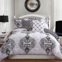Studio 17 Celine 5-Piece Full/Queen Reversible Comforter Set in Charcoal