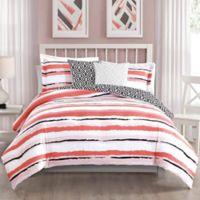 Studio 17 Colman 5-Piece Full/Queen Reversible Comforter Set in Blush/White