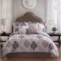 Studio 17 Java 7-Piece Queen Reversible Comforter Set in Taupe/White