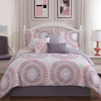 Studio 17 Parma 7-Piece Full/Queen Reversible Comforter Set in Blush