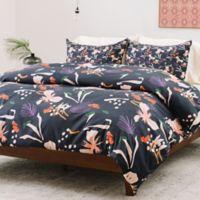Deny Designs Holli Zollinger Anthology of Pattern Seville Garden Light King Duvet Cover in Black
