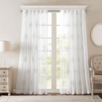Bombay® Massa 84-Inch Rod-Pocket Sheer Window Curtain Panel in White