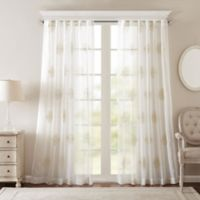 Bombay® Massa 84-Inch Rod-Pocket Sheer Window Curtain Panel in Ivory