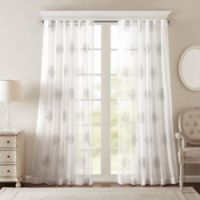 Bombay® Massa 108-Inch Rod-Pocket Sheer Window Curtain Panel in Silver