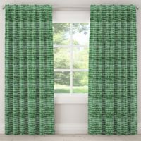 Cloth & Company Objects 84-Inch Rod Pocket/Back Tab Room Darkening Window Curtain Panel in Green