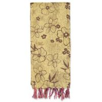 Kantha Cotton Bed Runner in Yellow and Burgundy