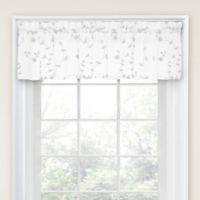Caspia Tailored Window Valance in White/White