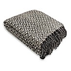 Diamond Chenille Throw Blanket in Grey
