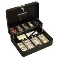 Honeywell 6213 Steel Tiered Cash Box With Two-Entry Key-Locking System