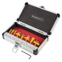 Stalwart® 9-Piece Router Bit Set in Red