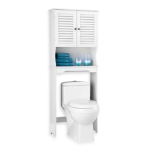 white bathroom space saver louvre bath space saver in white bed bath amp beyond 21446
