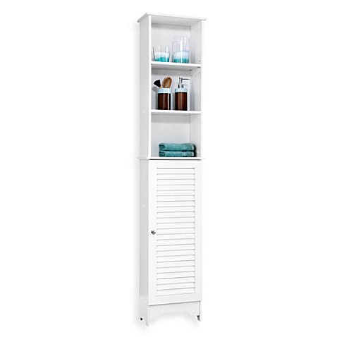 Louvre Bath Tall Cabinet in White - Bed Bath & Beyond